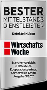 Detektei Testsieger Bester Mittelstandsdienstleister 2017 2018 2019